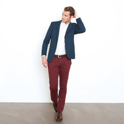 Maroon Slim Stretch Chino Pant