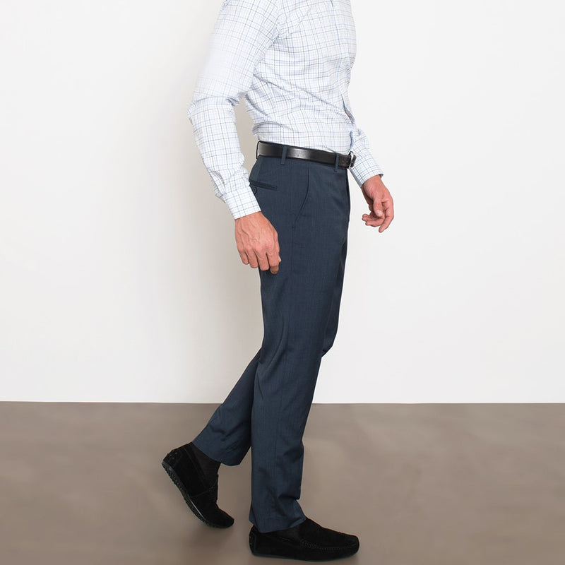 Navy Windowpane Navy Glen Plaid Workhorse Pants