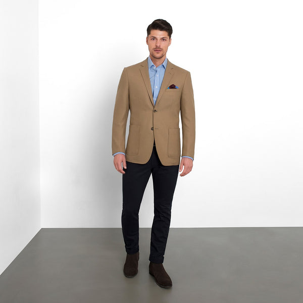 Camel Slim Fit Blazer