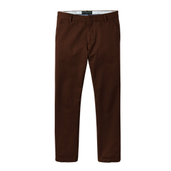 Chocolate Brown Straight Stretch Chino Pant