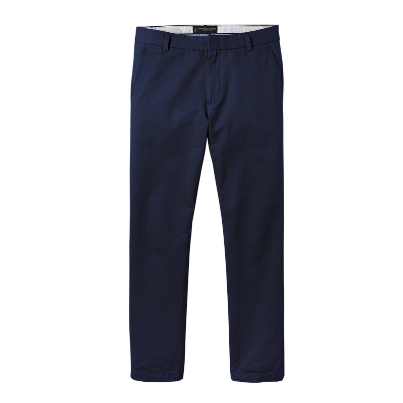 Navy Blue Straight Stretch Chino Pant