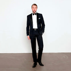 Midnight Blue Slim Fit Shawl Collar Tuxedo