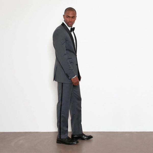 Charcoal Slim Fit Shawl Collar Tuxedo