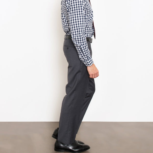 Charcoal Herringbone Stretch Pants