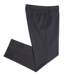 Lavender & White on Black Pinstripe Workhorse Pants