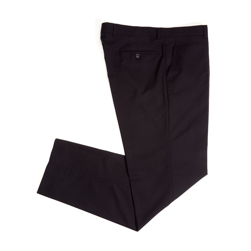 Black Herringbone Stretch Pants