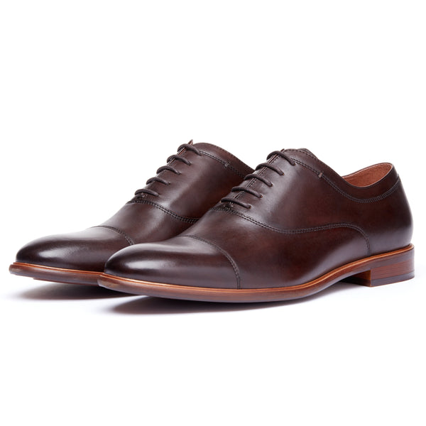 Chocolate Cap Toe Lace Up Oxford