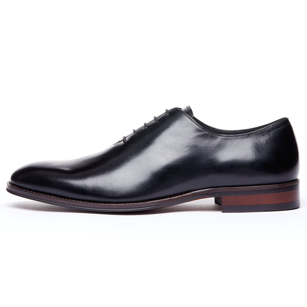 Black Wholecut Lace Up Oxford Dress Shoe