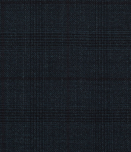 Slate Blue and Black Glen Plaid Windowpane