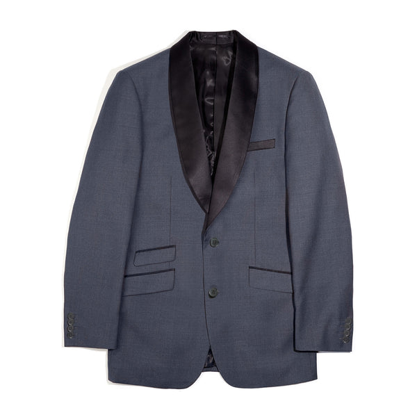 Charcoal Shawl Collar Slim Fit Tuxedo Jacket