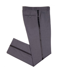Charcoal Slim Fit Shawl Collar Tuxedo Pant