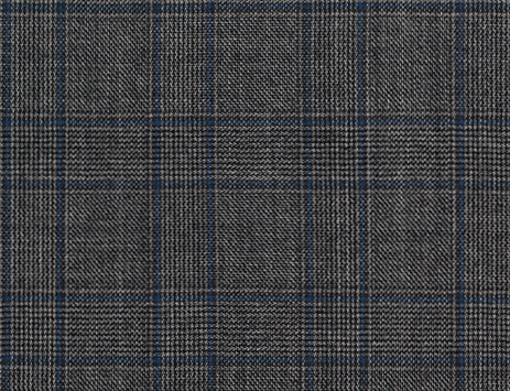 Light Grey and Blue Glen Plaid Windwopane