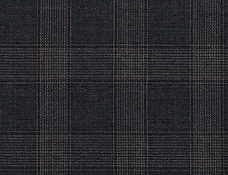 Charcoal and Tan Glen Plaid