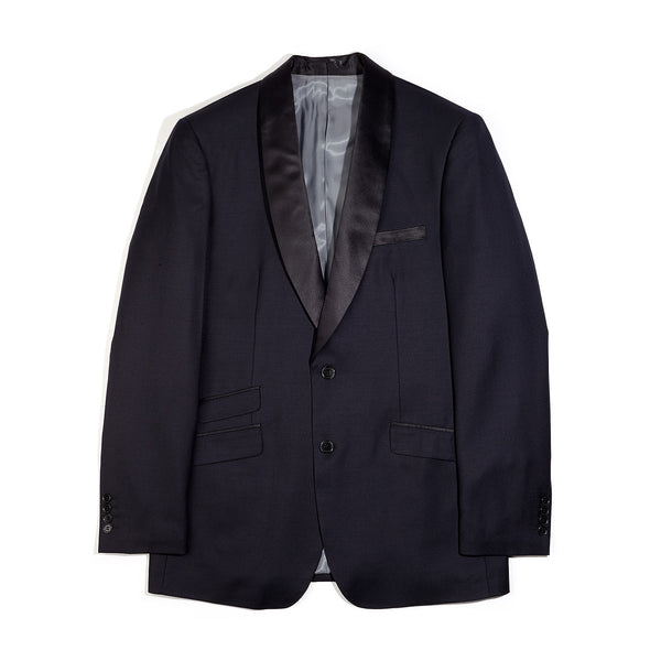 Midnight Blue Shawl Collar Slim Fit Tuxedo Jacket
