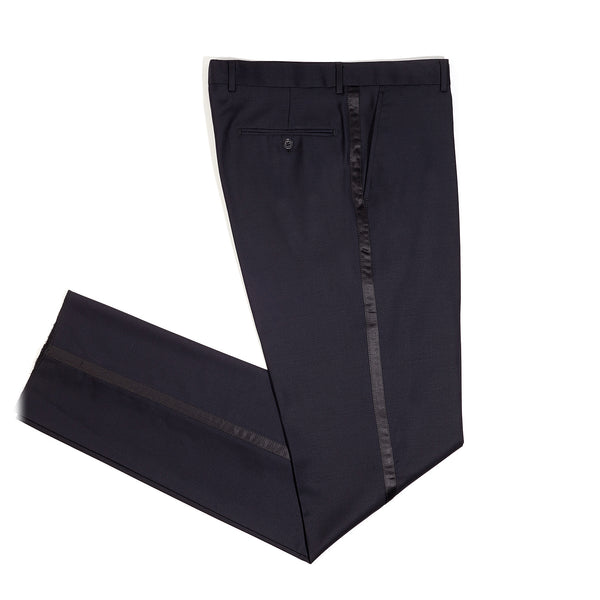 Midnight Blue Slim Fit Shawl Collar Tuxedo Pant