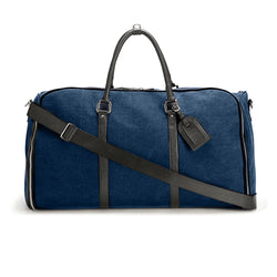 Navy Canvas Weekender Garment Bag