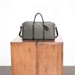Charcoal Canvas Weekender Garment Bag