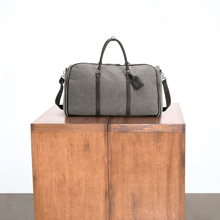 The Charcoal Canvas Weekender Garment Bag travel product recommended by Lindsay on Lifney.