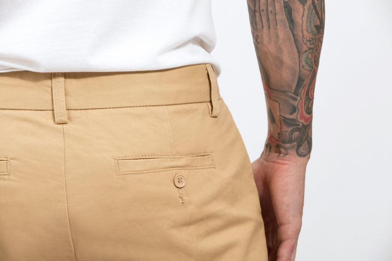 Khaki Slim Straight Chino Pant