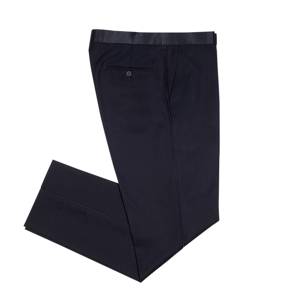 Navy Slim Fit Notch Lapel Tuxedo Pant
