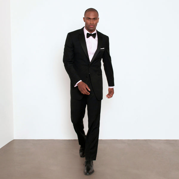 Black Modern Fit Notch Lapel Tuxedo