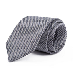 Charcoal and Grey Mini Houndstooth Tie
