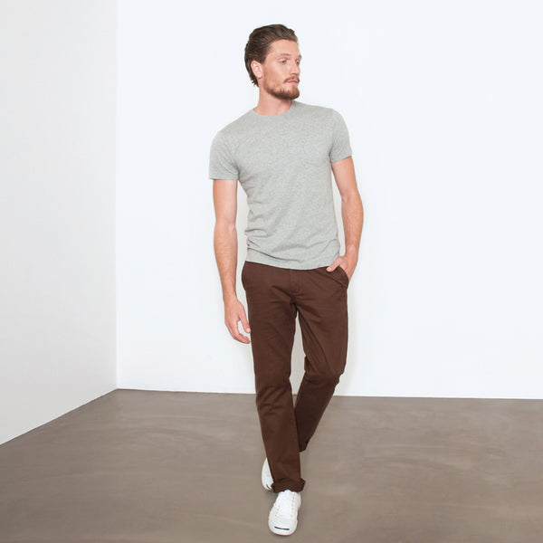 Chocolate Brown Slim Straight Chino Pant