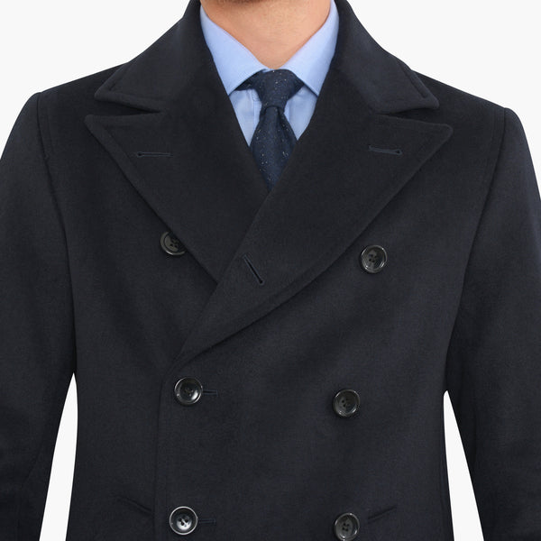 Navy Wool Peacoat