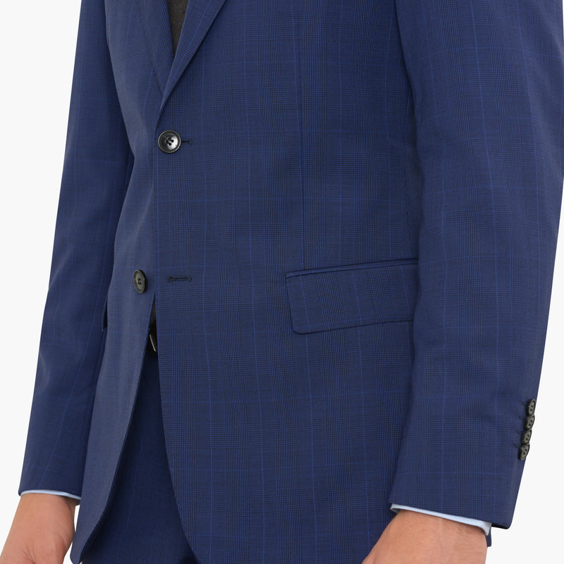 Deep Blue Glenplaid Tailored Fit Suit
