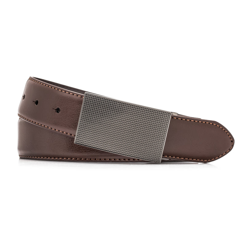 Brown Leather Pindot Belt