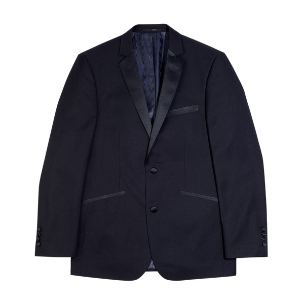 Navy Slim Fit Notch Lapel Tuxedo Jacket