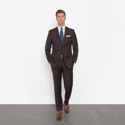 Chocolate Brown Slim Fit Suit