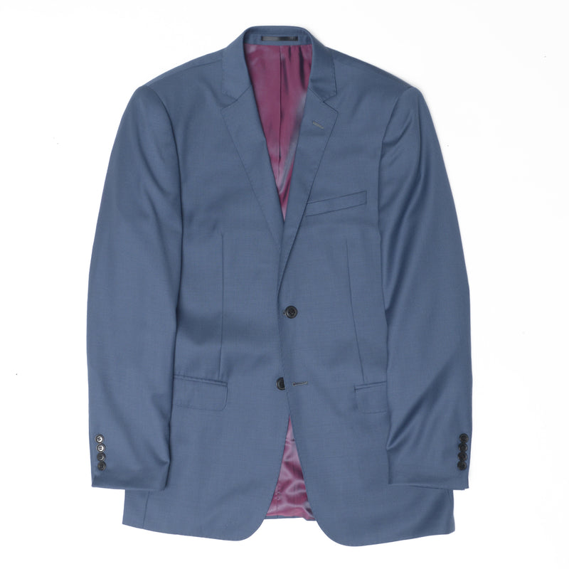 Essential Slate Blue Tailored Fit Suit Jacket