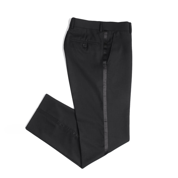 Black Slim Fit Peak 1 Button Tuxedo Pant