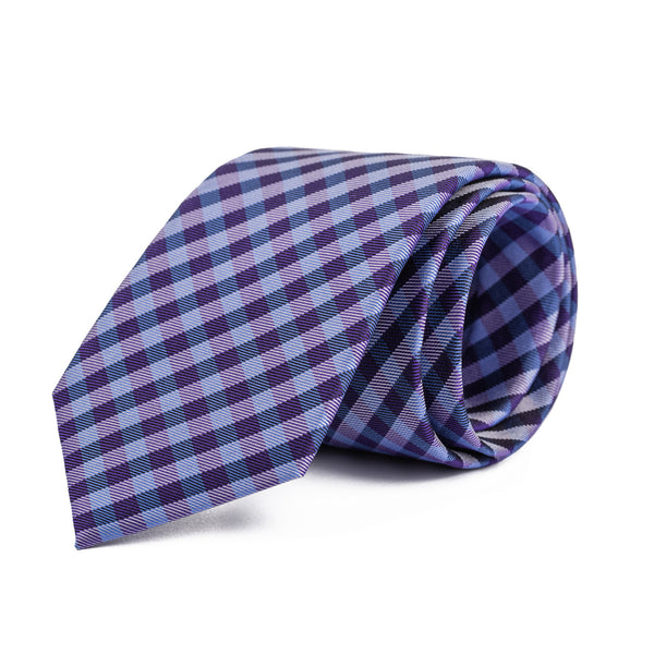 Navy and Blue Gingham Tie