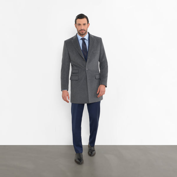 Grey Wool Overcoat