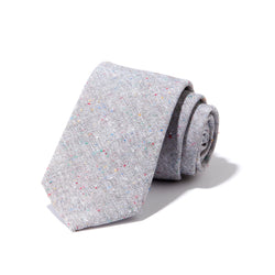 Light Grey Textured Tie
