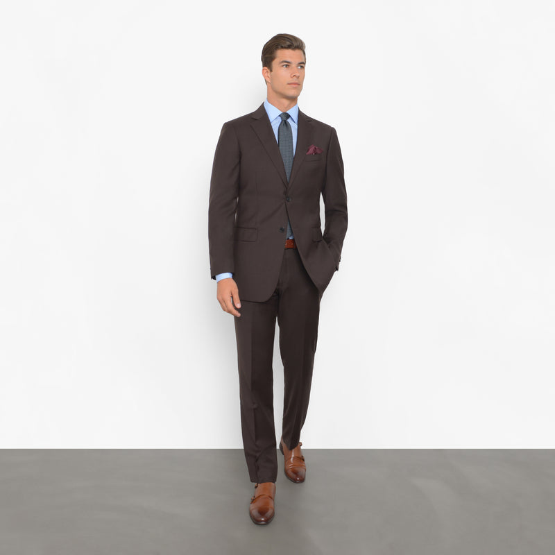 Chocolate Brown Tailored Fit Suit