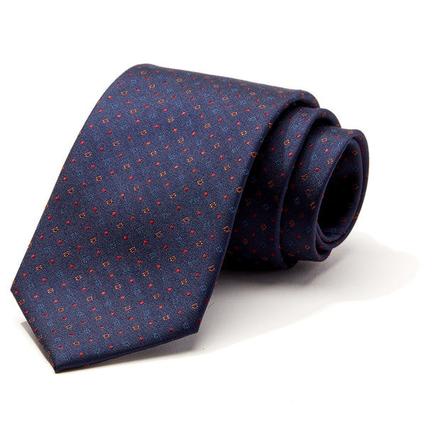 Multi Geometric Navy Tie