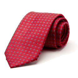 Red and Blue Mini Foulard Tie
