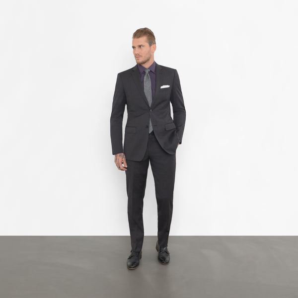 Black Nailhead Slim Fit Suit
