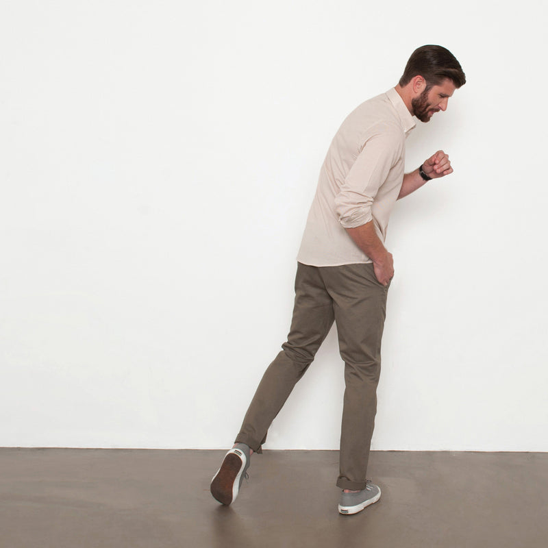 Olive Slim Straight Chino Pant