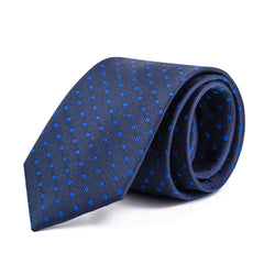 Blue and Navy Polka Dot Tie