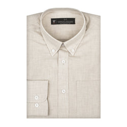 Off-White Chambray Slim Fit Button-Down Collar Shirt