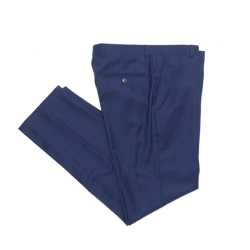 Essential Blue Double Breasted Slim Fit Suit Pant