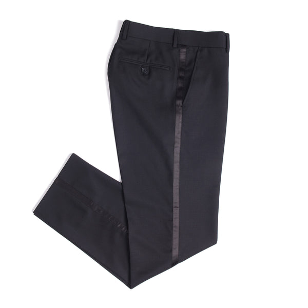 Black Slim Fit Shawl Collar Tuxedo Pant