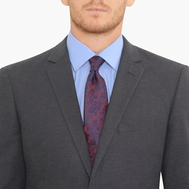 Slate Grey Cotton Twill Slim Fit Suit