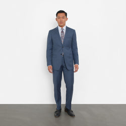 5edd4056 Slate Blue Slim Fit Suit – Combatant Gentlemen
