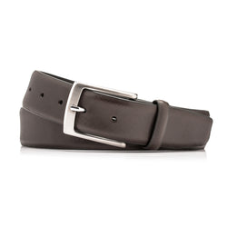 Brown Leather Crosshatch Belt