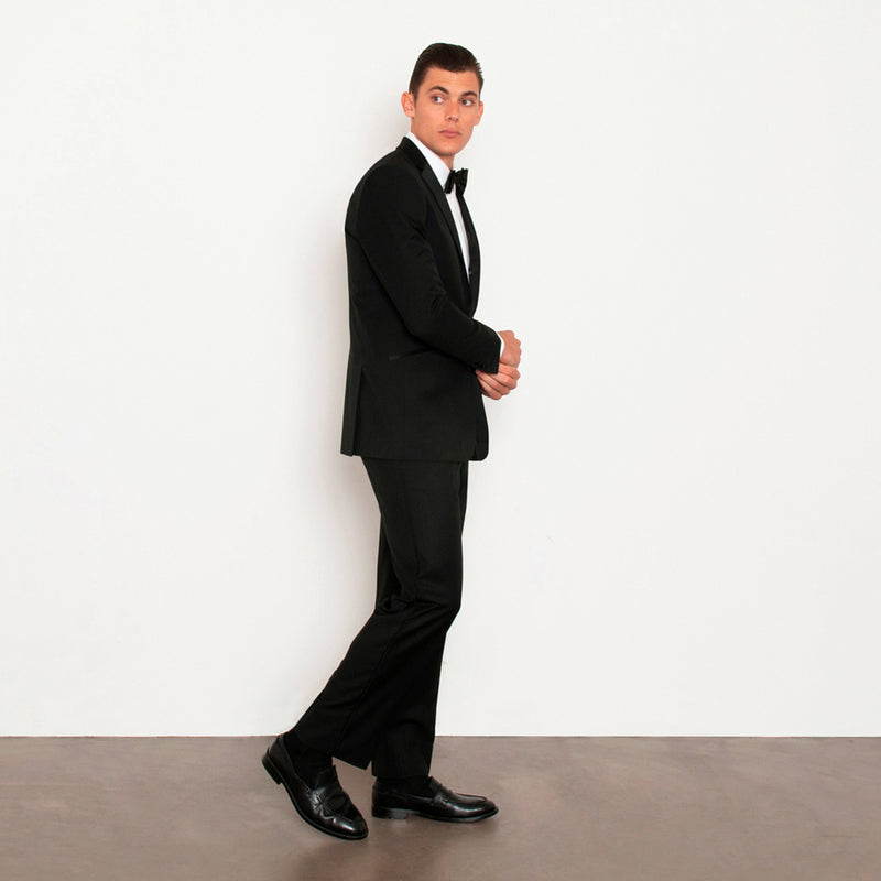 Black Slim Fit Notch Lapel Tuxedo